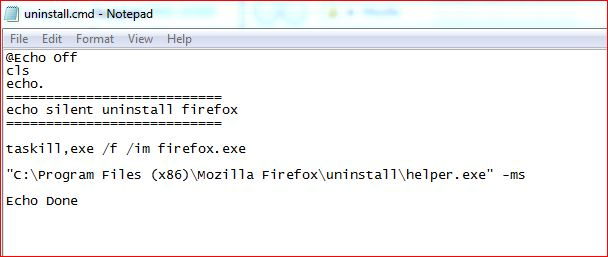 Silent Install Mozilla Firefox msi and exe file - Including Silent