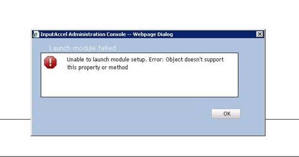 Unable to launch module setup Error