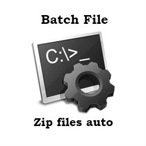 Script to zip file using CMD batch file