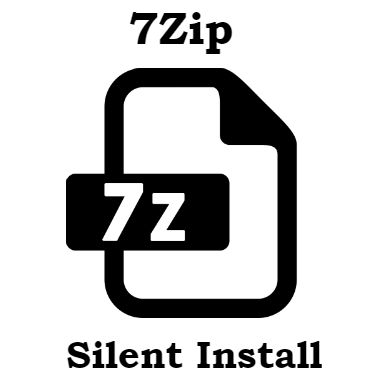 7zip silent install msi and exe version – Command Line