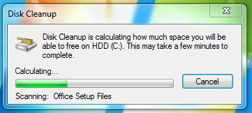 diskcleanup to delete temp files windows