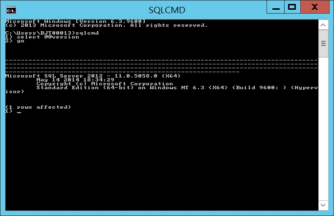 How to check sql server version from command promt