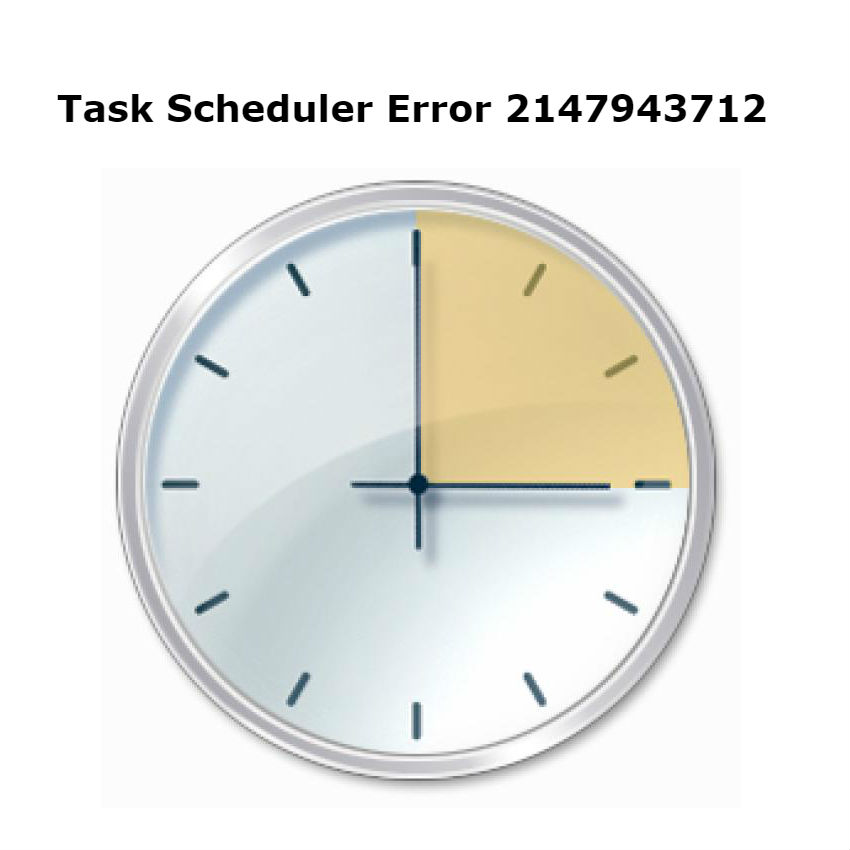 Task scheduler error 2147943712 on Windows during task creation