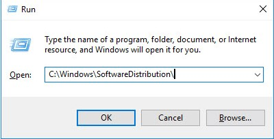 Open SoftwareDistribution Folder