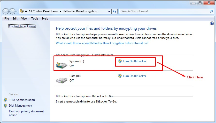 How to encrypt windows 7 and window 10