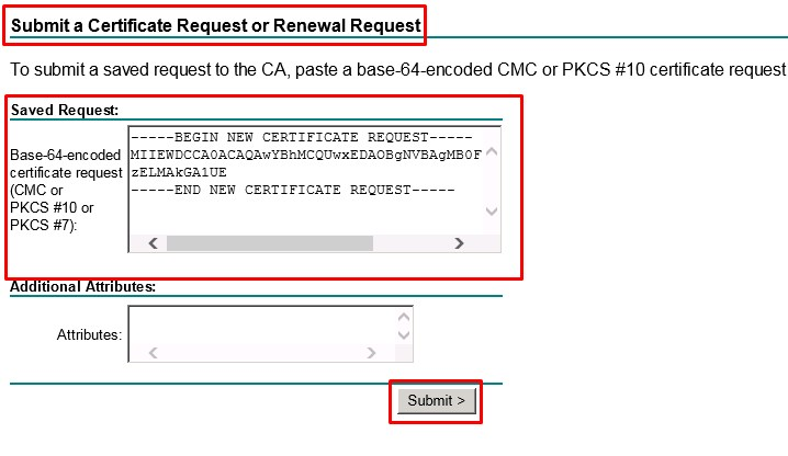 Submit a SSL Certificate Request or Renewal Request