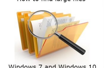 Find Large Files on Windows