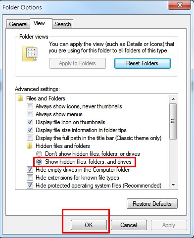 Show Hidden Files-Folders-Drives