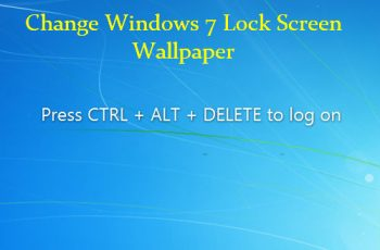 Change Windows 7 Lock Screen wallpaper