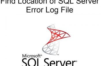 Location of SQL Server error log file