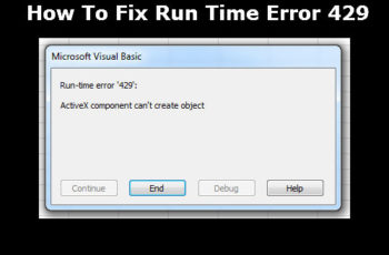 Run Time Error 429