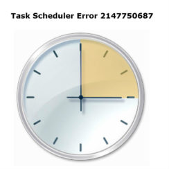 Task Scheduler Error 2147750687
