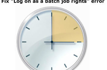 log on as batch job rights