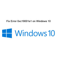 Error 0xc19001e1 Windows 10