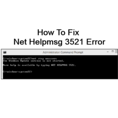 Net Helpmsg 3521 Error