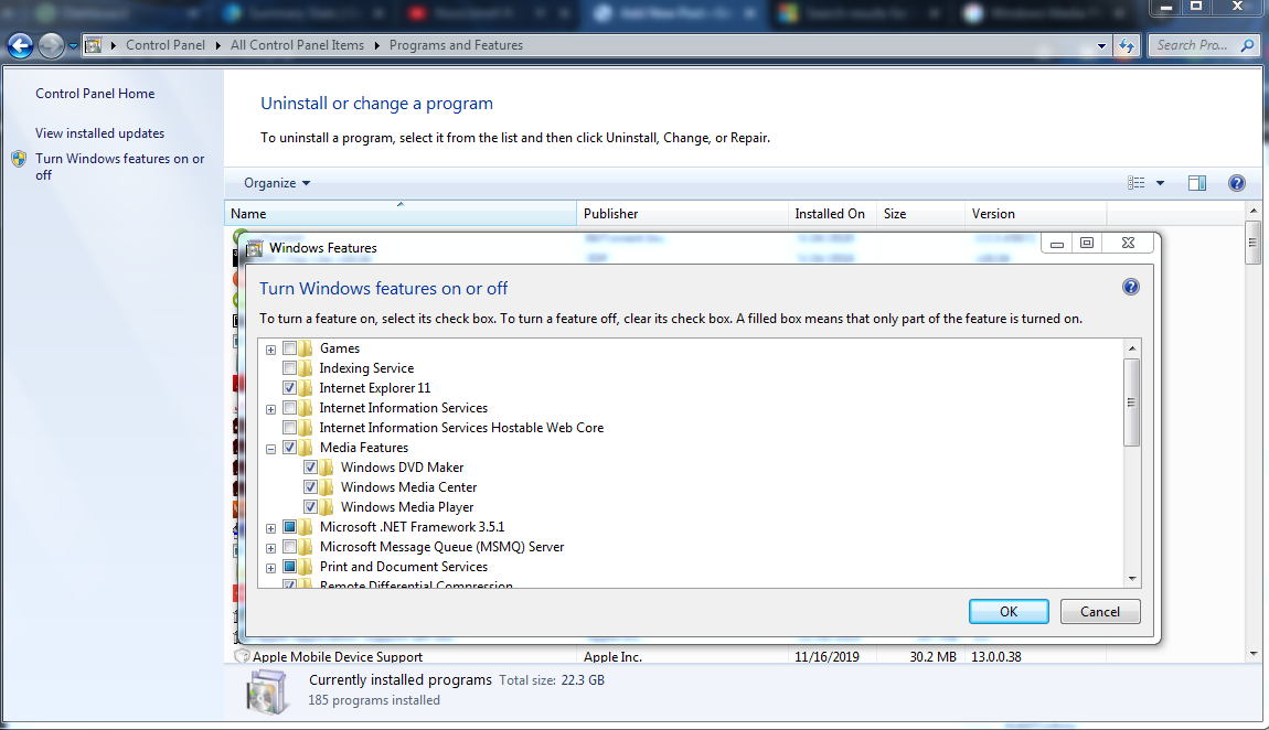 Reinstall Windows media Player