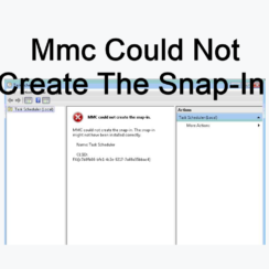 Mmc Could Not Create The Snap-In