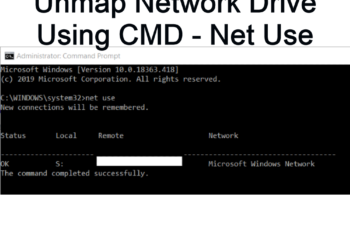 Unmap Network Drive using CMD - net use