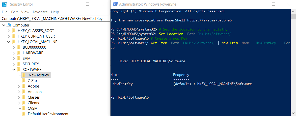 Add Registry Key Powershell