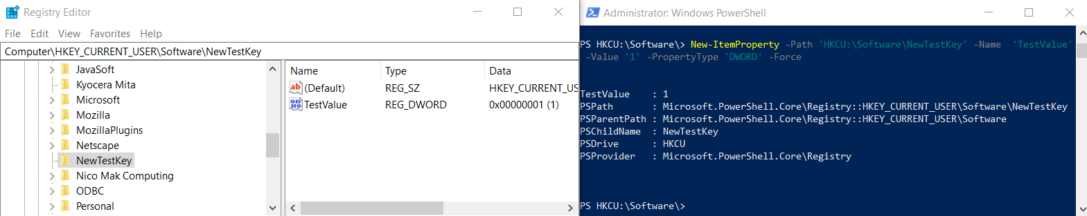 Add Registry Value PowerShell