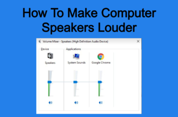 How To Make Computer Speakers Louder