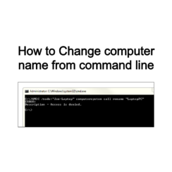 How to Change computer name from command line