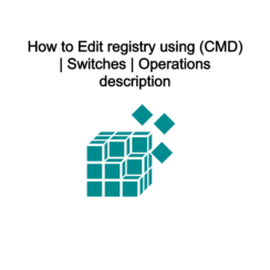 How to Edit registry using (CMD)