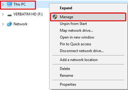 How to rename hard drive Using Disk Management
