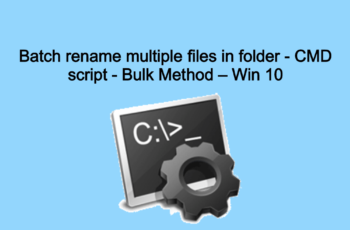 Batch rename multiple files in folder