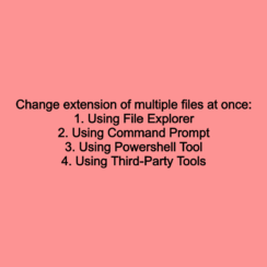 Change extension of multiple files at once