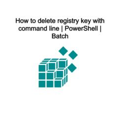 How to delete registry key with command line