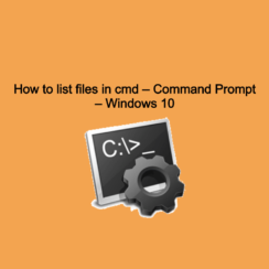 How to list files in cmd
