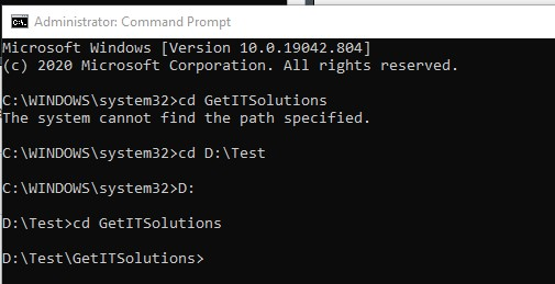 How to Change Directories in Command Prompt