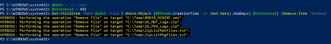 How to delete files older than X days using PowerShell
