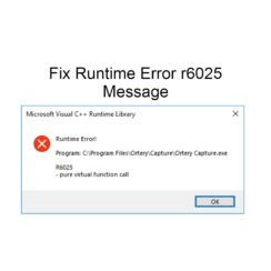 Fix Runtime Error r6025 Message
