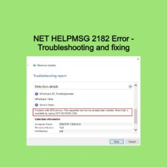 NET HELPMSG 2182 Error - Troubleshooting and fixing