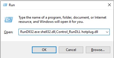 Use Safely Remove Hardware utility