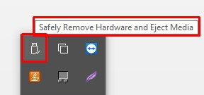 How to remove safely external hard drive