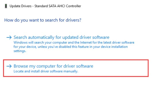 Update Drivers Manually