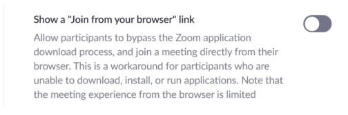 Use Zoom as a browser extension